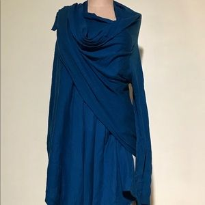 Cashmere and Cotton wrap around sweater!